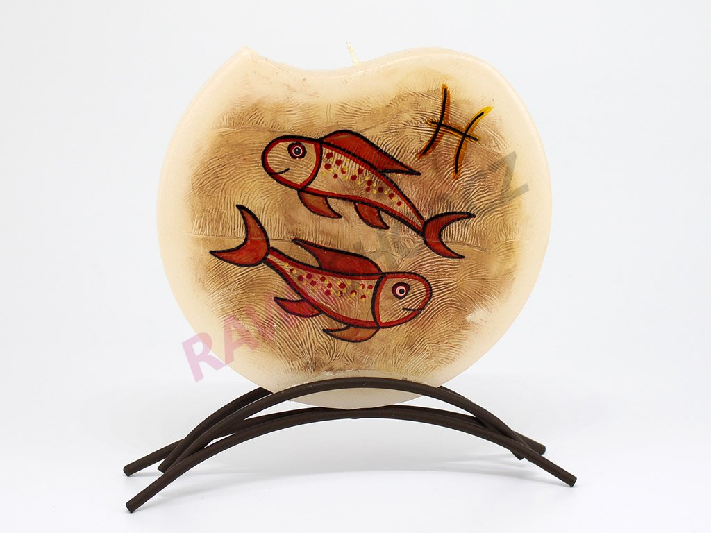 Plochá svíčka zvěrokruh - ryby