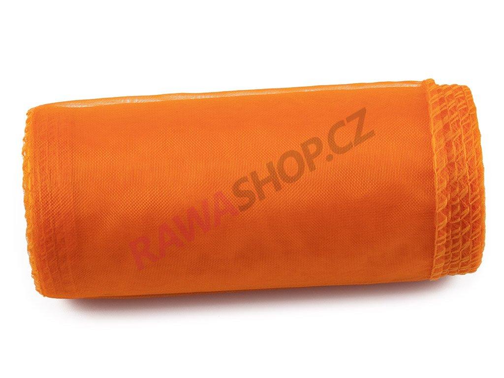 Organza 12 cm - dk. orange