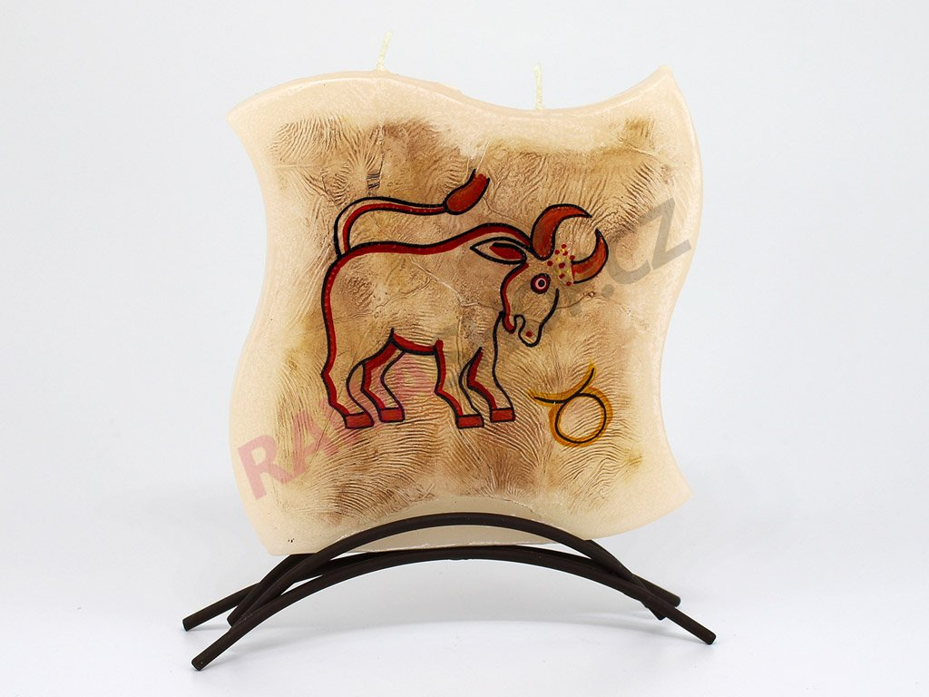 Plochá svíčka zvěrokruh - býk