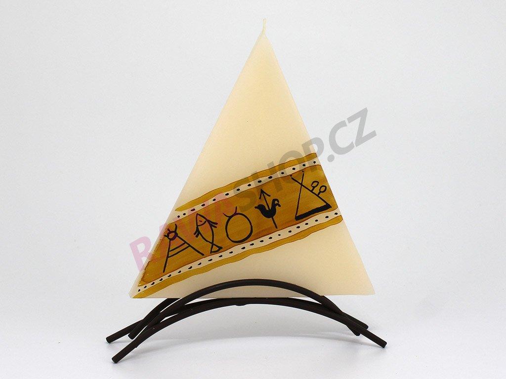 plochá svíčka Indiana - trojúhelník
