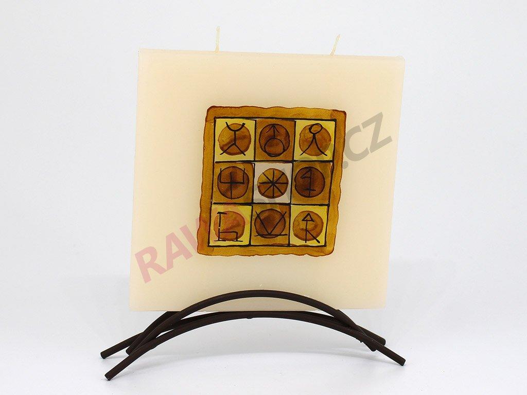Plochá svíčka Inca - čtverec