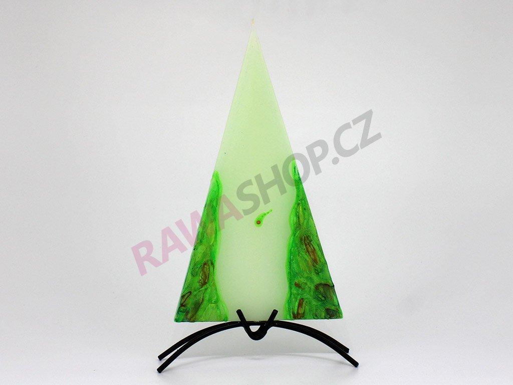 Plochá svíčka Vesuv - zelená