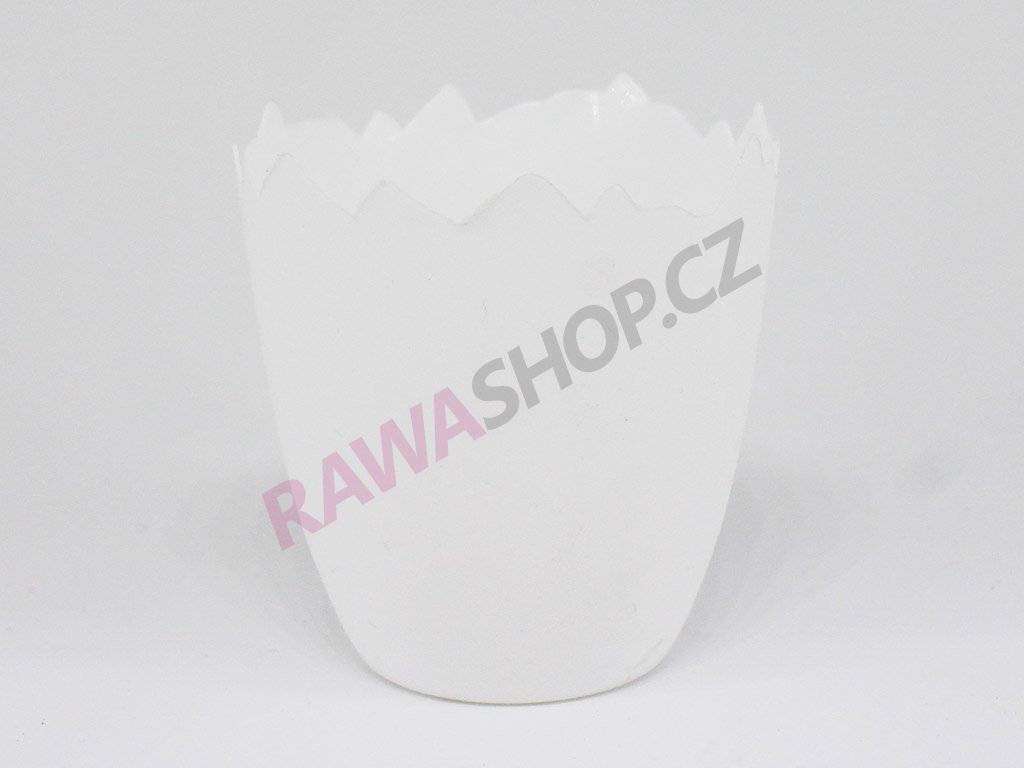 Plastový obal skořápka - bílá