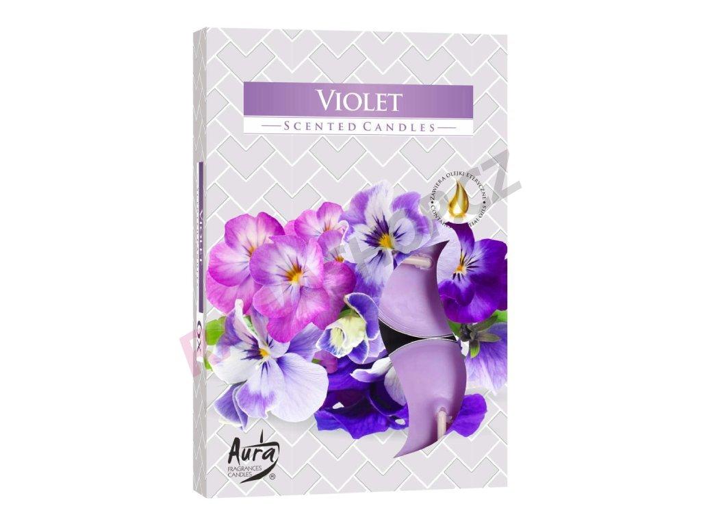 27. Čajové svíčky 6 ks Violet