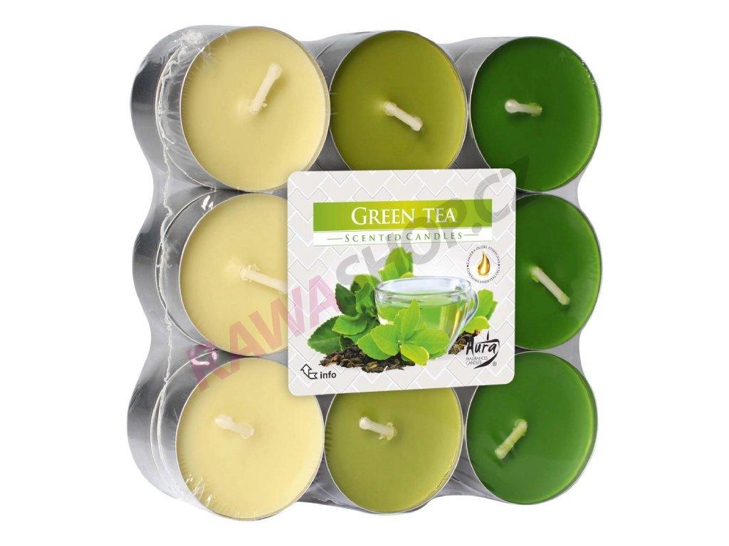 1. Čajové svíčky trio 18 ks Green tea BP15 18 83