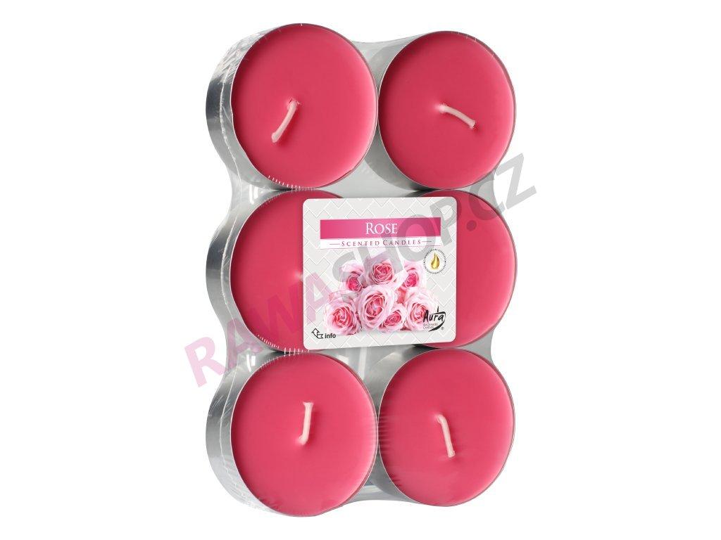 7. Čajové svíčky Maxi 6 ks Rose