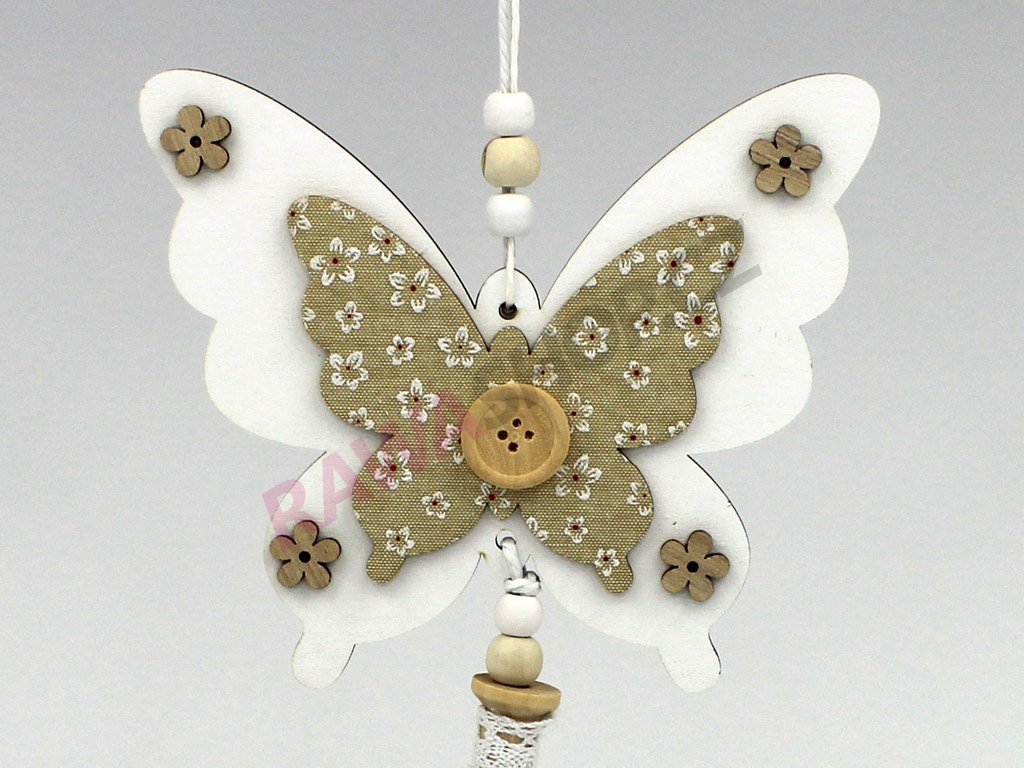 Závěs s knoflíkem - motýl