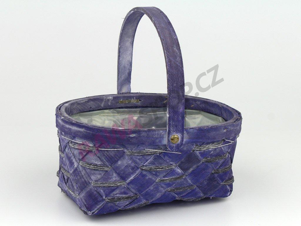 Košík z dýhy ovál - fialová