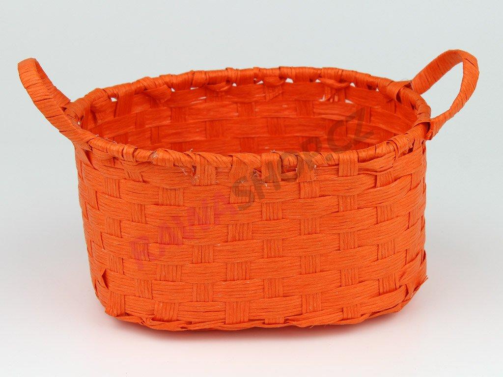 Boxík oválný s oušky - oranžová