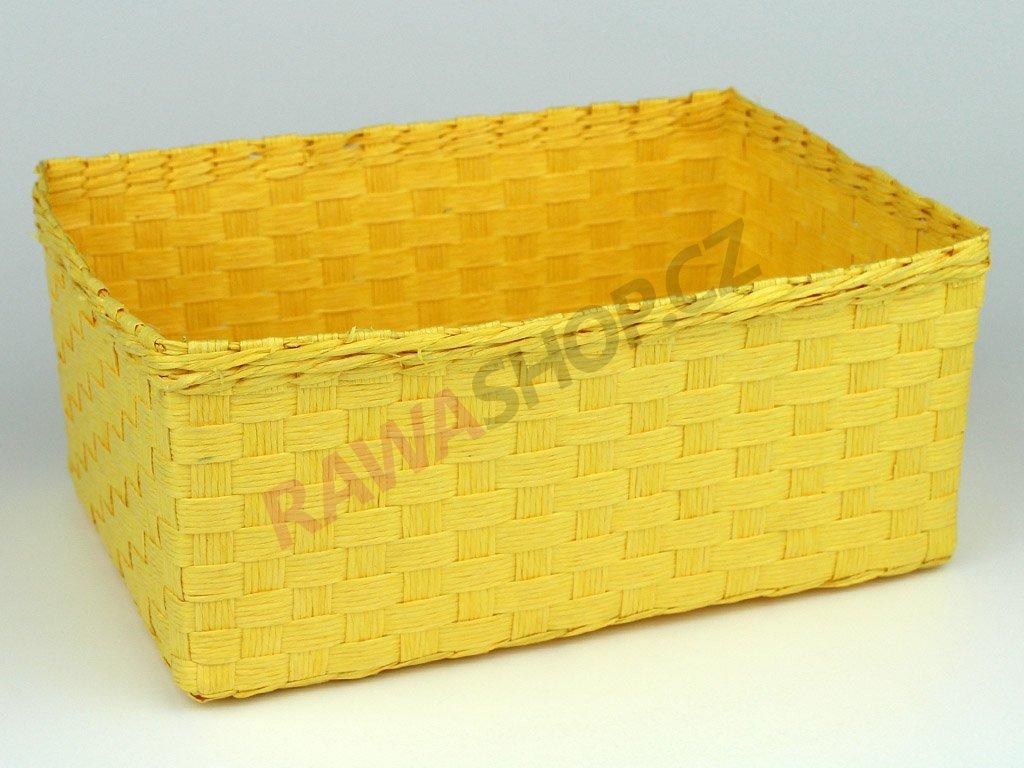 Box obdélník 3ks - žlutá