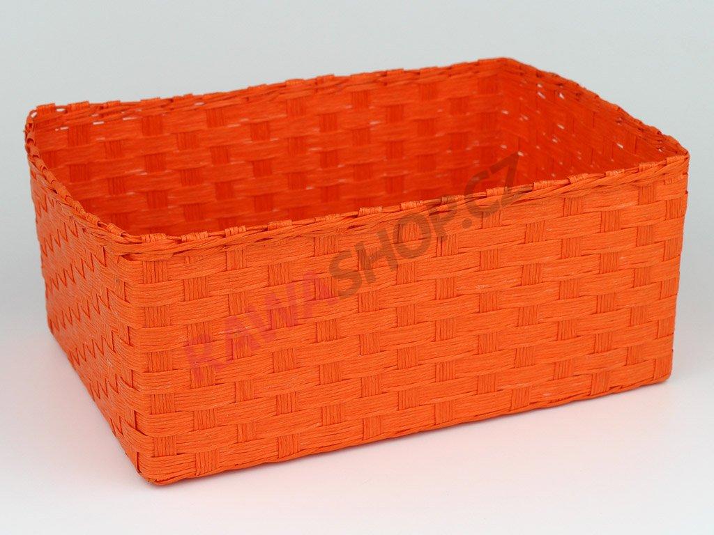 Box obdélník 3ks - oranžová