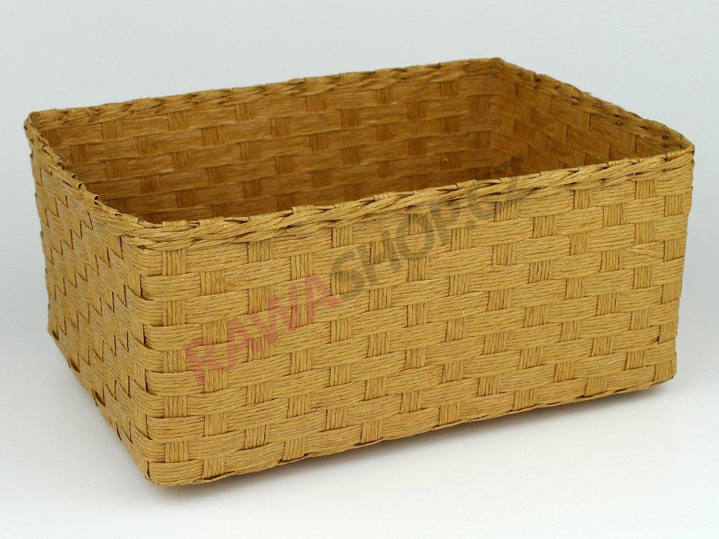Box obdélník 3ks - písková