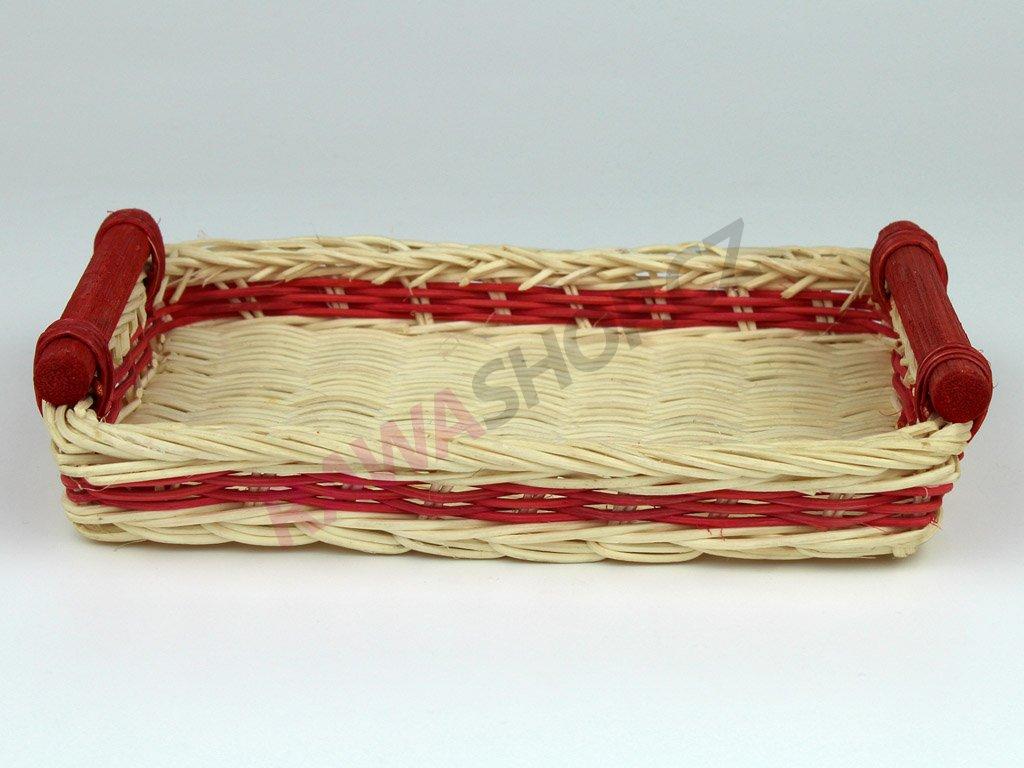 Pedigová miska 21x16 - červená