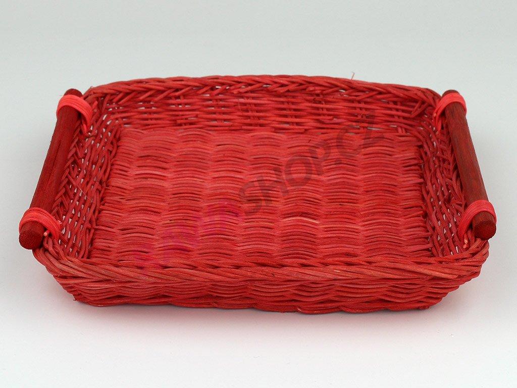 Pedigová miska 20x20 - červená
