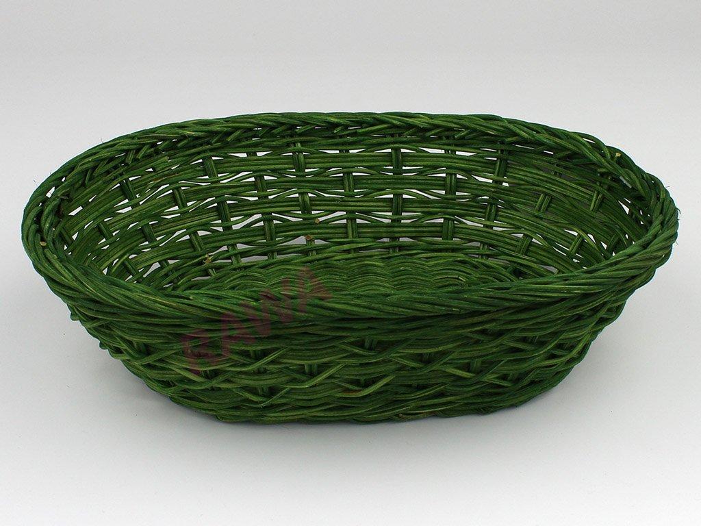 Pedigová miska ovál 27x19 - zelená