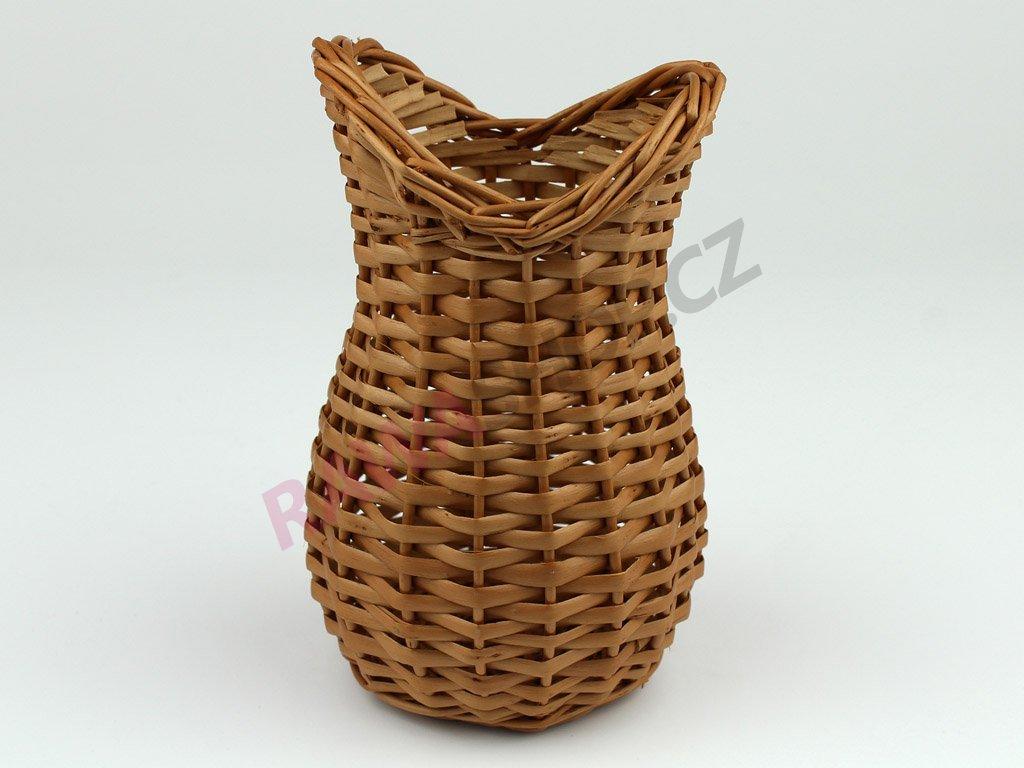 Proutěná váza vykrojená