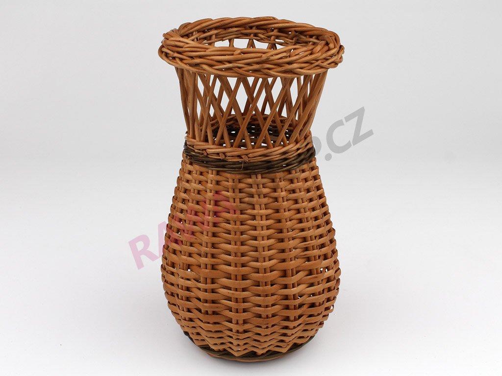 Proutěná váza s pruhem