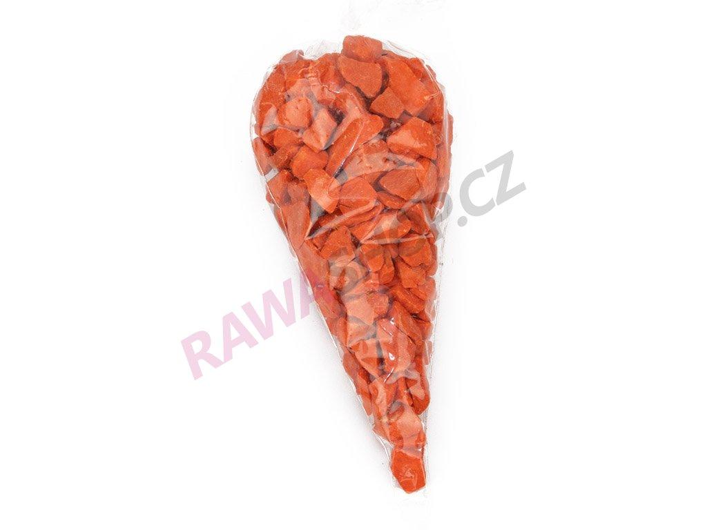 Kamínky v kornoutu velké - oranžová