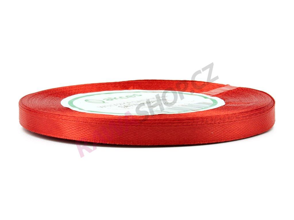 Saténová stuha 0,6cm - červená