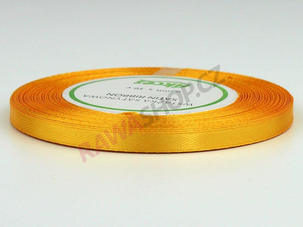 Saténová stuha 0,6cm - zlatá