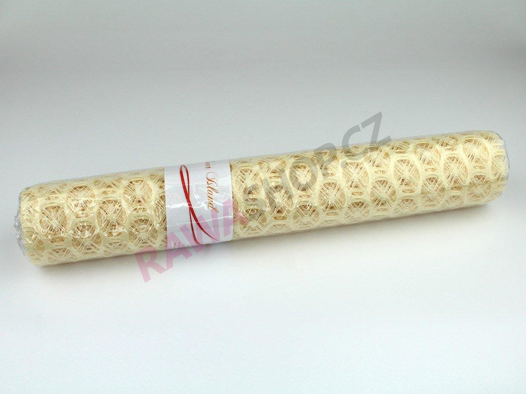Lemon mesh 50cm - cream