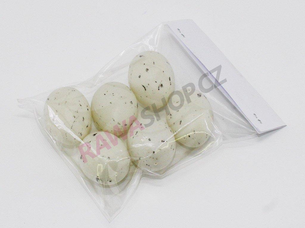 Křepelčí vejce 6 ks - bílá