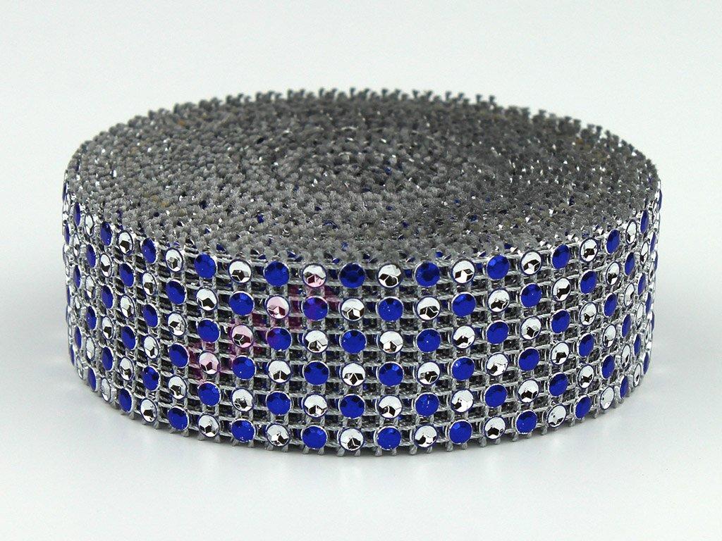 Stuha zirkon 3cm - modrá