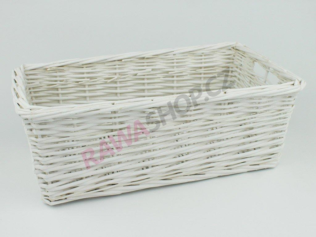 Šuplík proutěný 37x20 - bílý