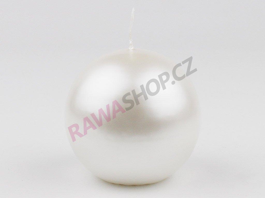 Svíce koule 80 - bílá perla