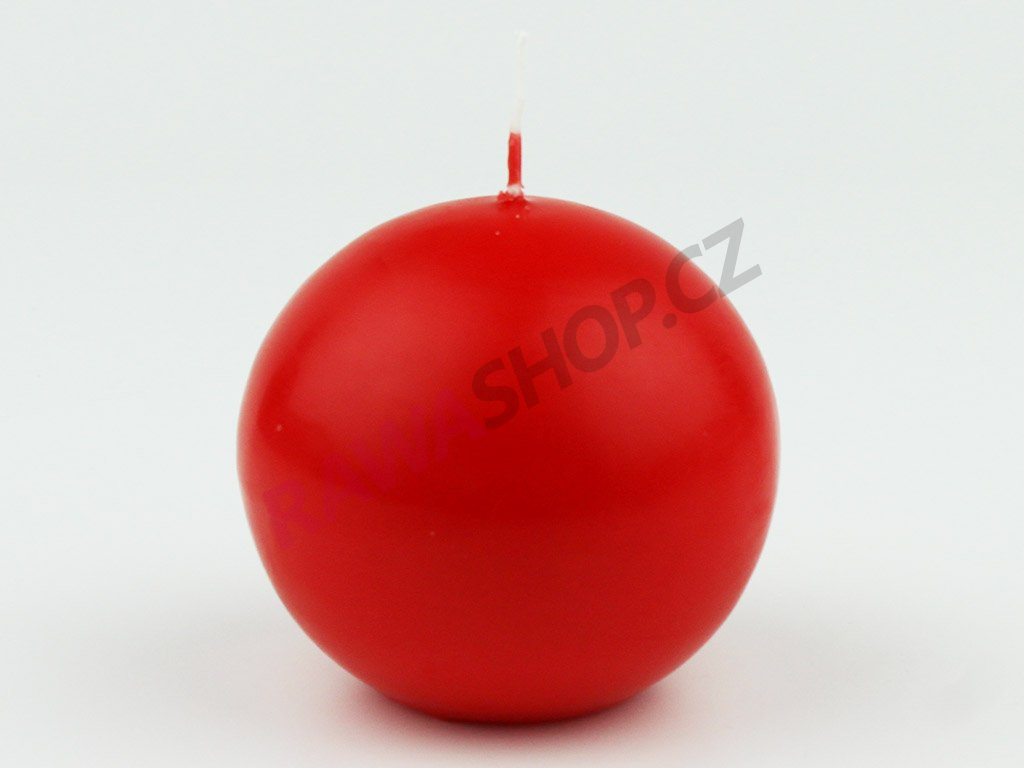 Svíce koule 80 - červená