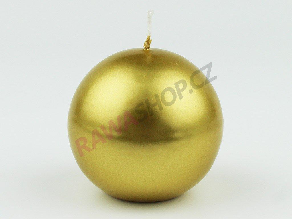 Svíce koule 80 - zlatá metalická