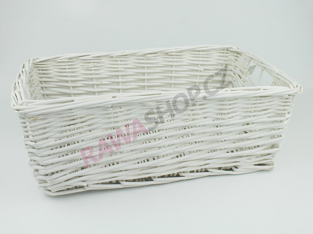 Šuplík proutěný 42x26 - bílý