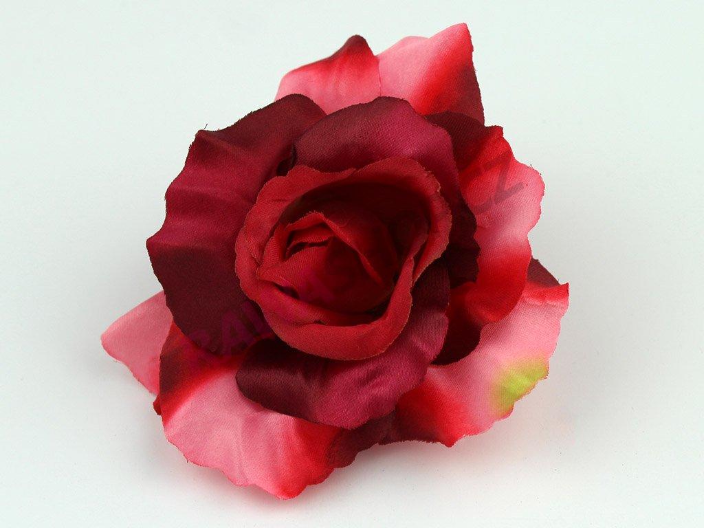 Růže 456 - červeno zelená