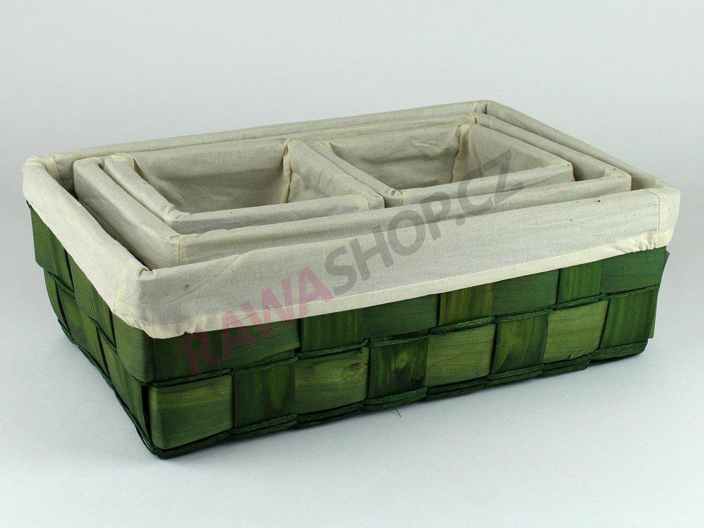 Šuplík dýha sada 4ks - zelený