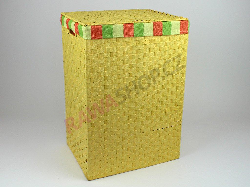 Koš provázkový - žlutý