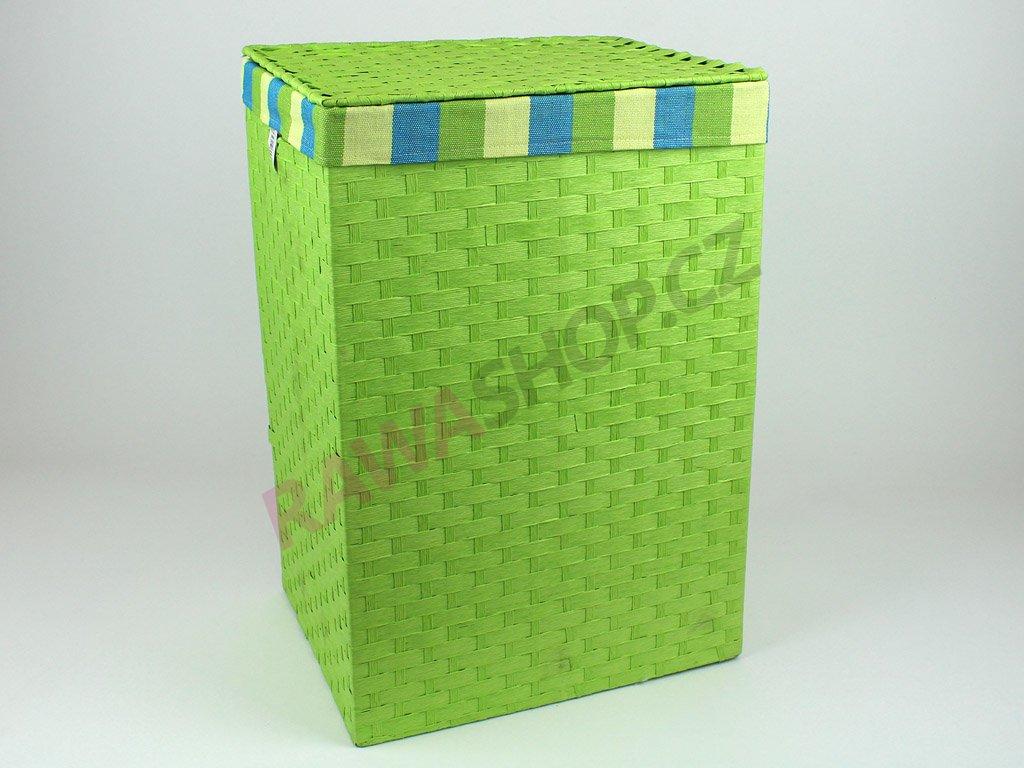 Koš provázkový - zelený