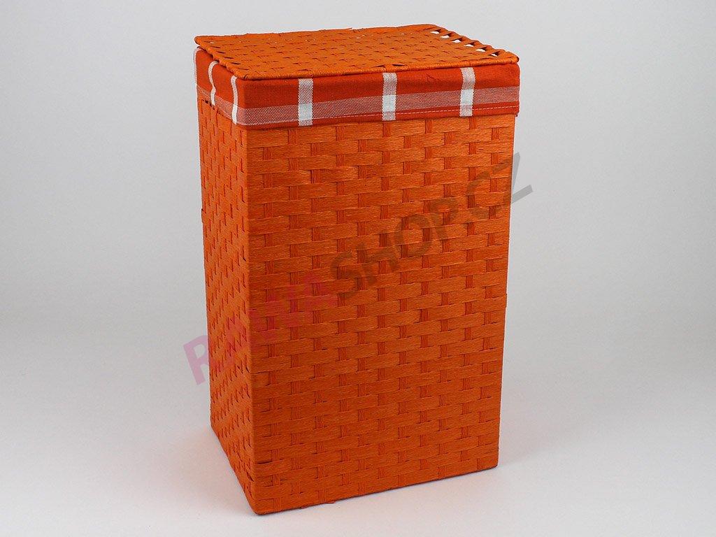 Koš provázkový - oranžový