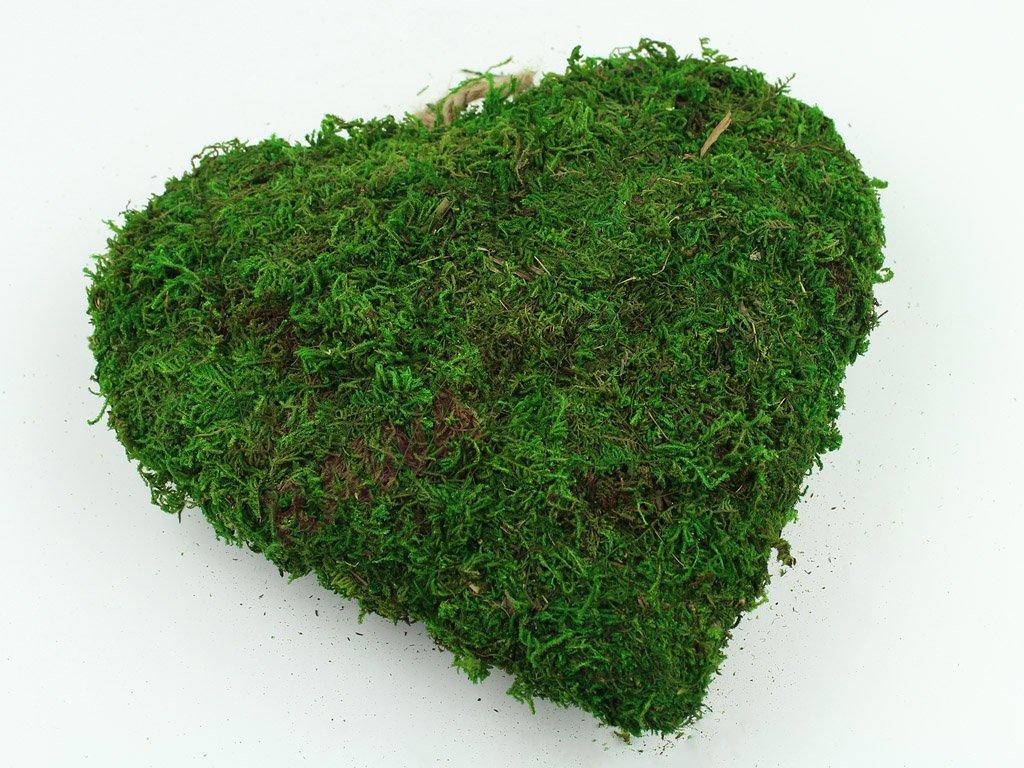 Mechové srdce 25cm