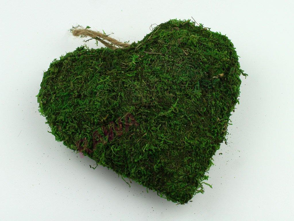 Mechové srdce 20cm