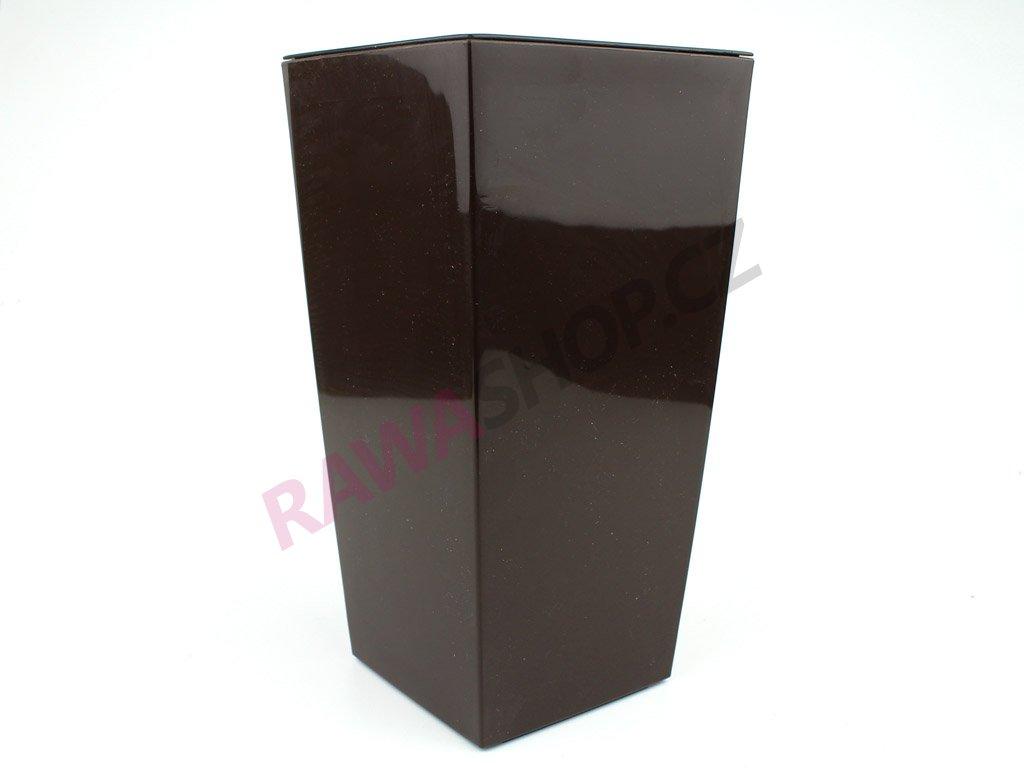 Plastový obal čtvercový 14cm - mokka