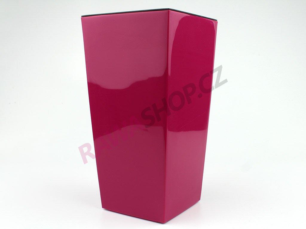 Plastový obal čtvercový 14cm - fuchsie