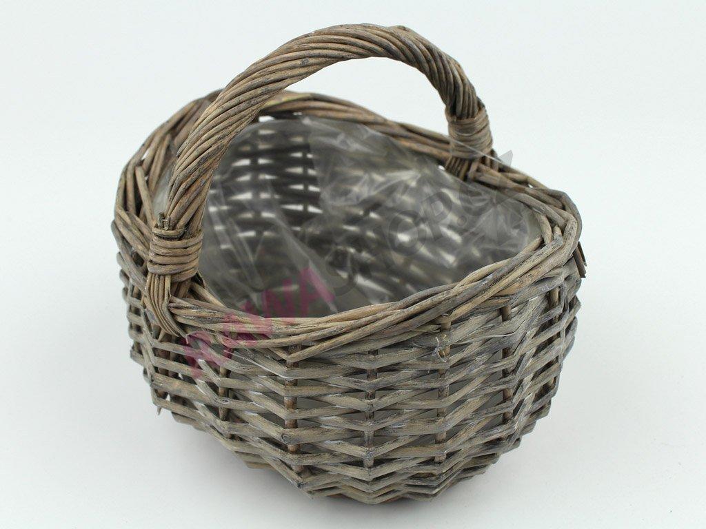 Košík malý - šedý