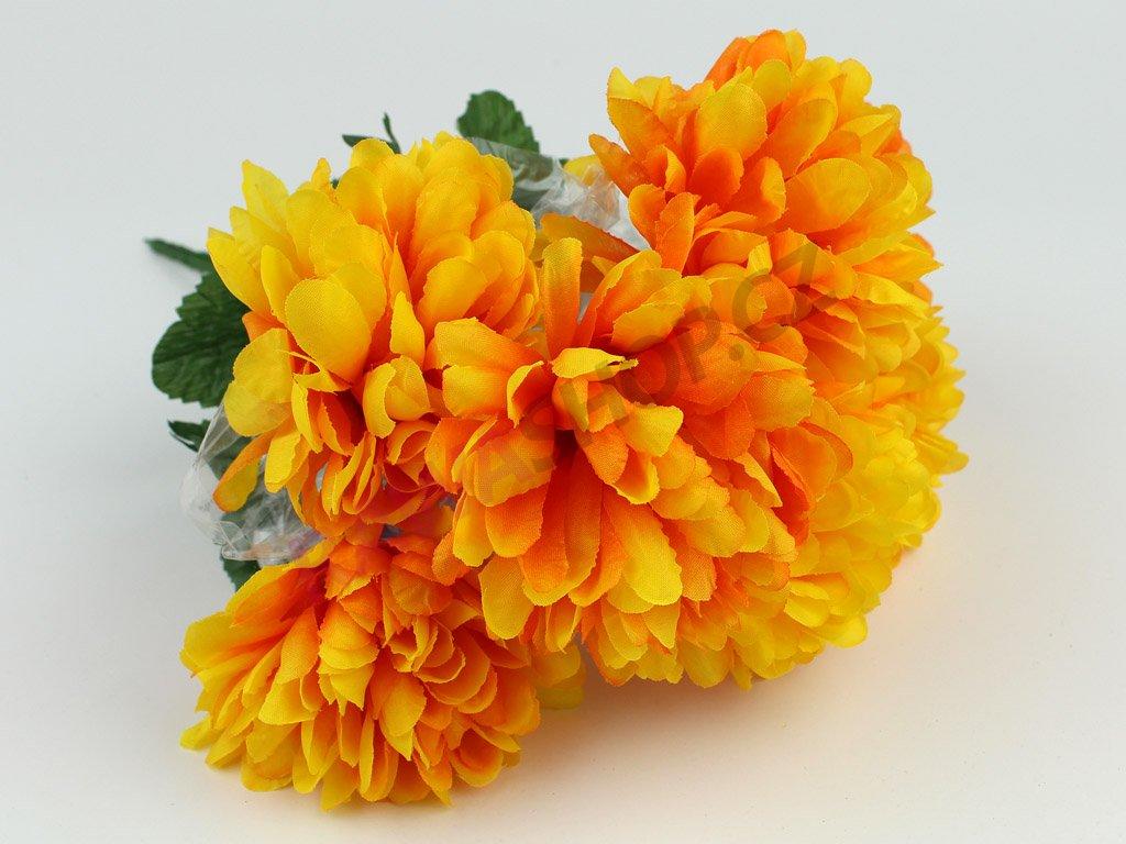 Chryzantéma svazek 7ks - oranžová