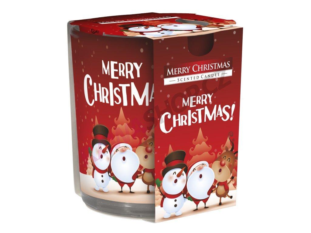 41. Svíčka ve skle Merry Christmas BSN72S 09