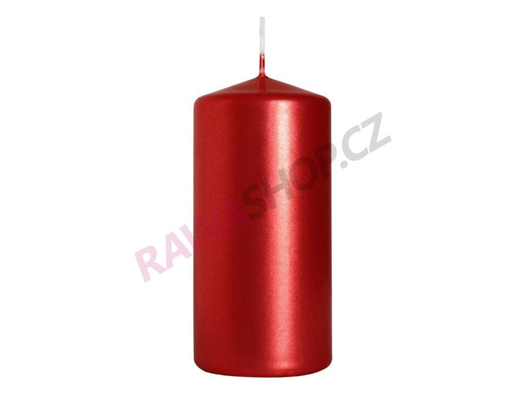 24. Svíčka válec 50 100 červená metalická BSW50100 230