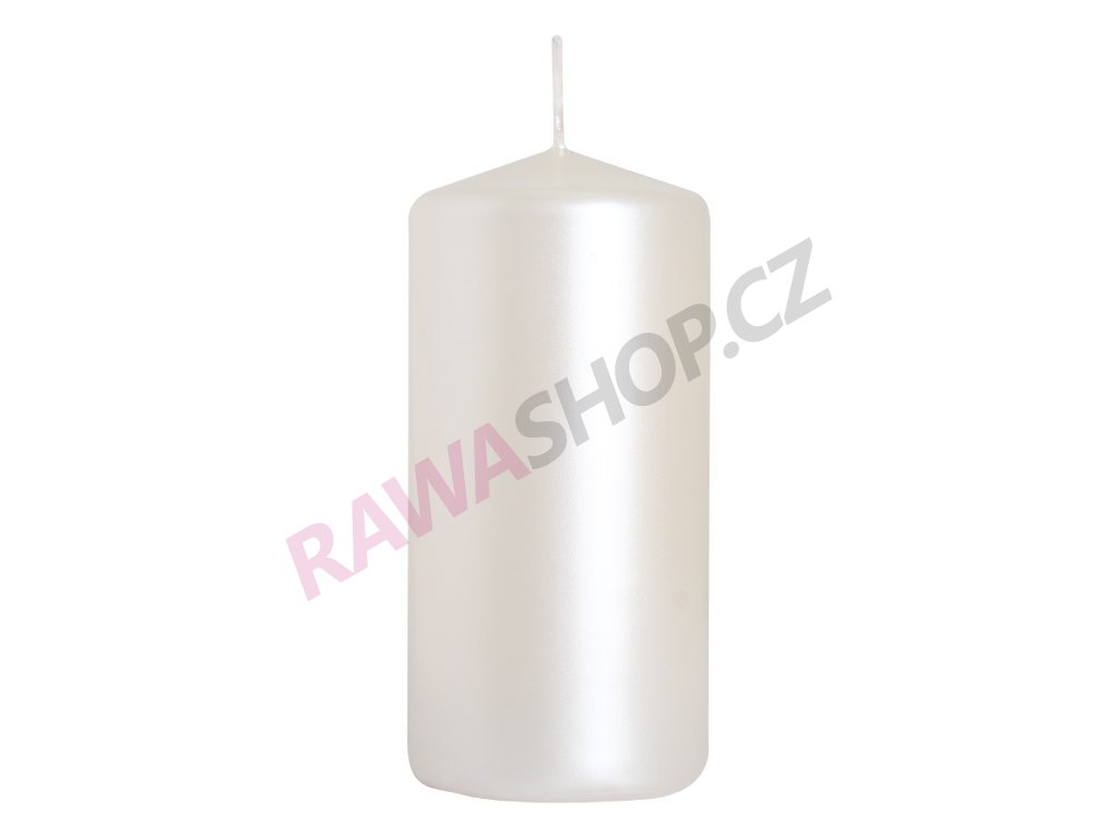 21. Svíčka válec 50 100 bílá perla BSW50100 190