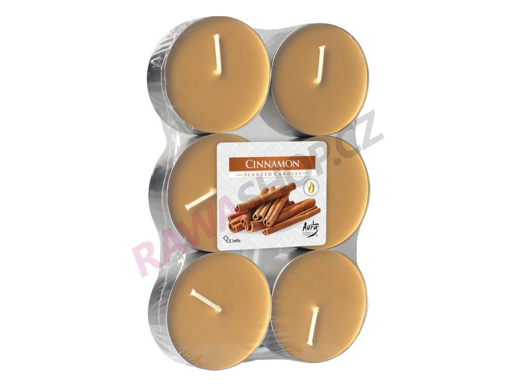 1. Čajové svíčky Maxi 6 ks Cinnamon