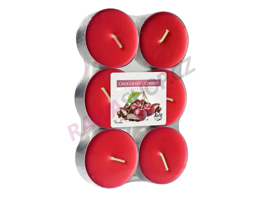 4. Čajové svíčky Maxi 6 ks Chocolate cherry
