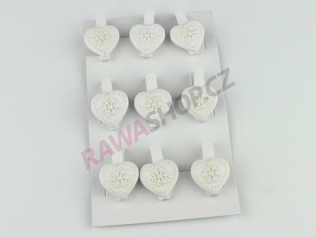 Kolíčky srdce 3