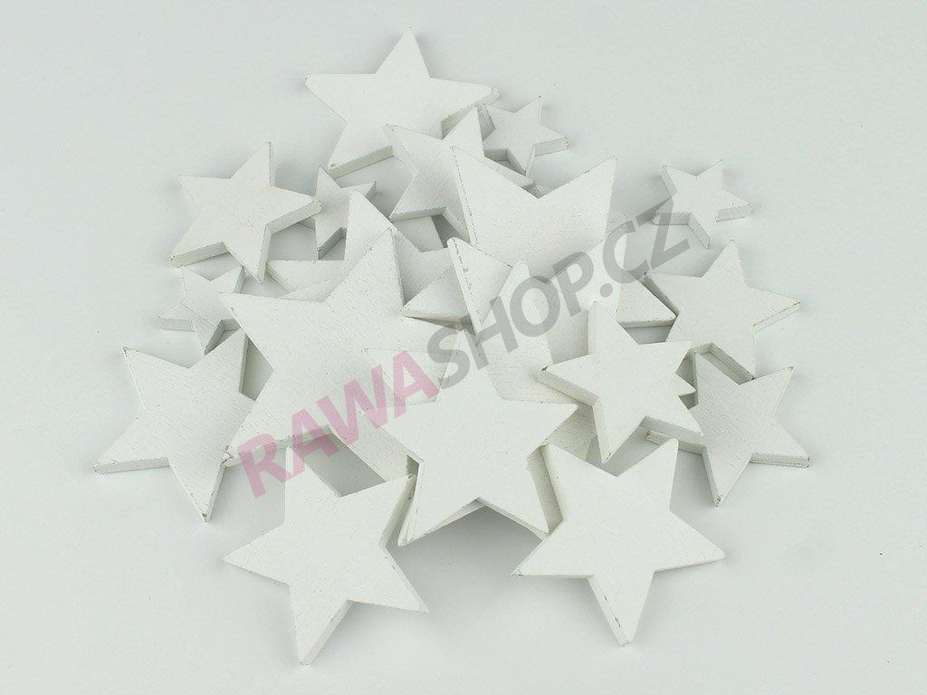 Hvězda MIX 21ks - bílá